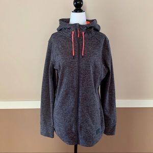 Gray Hoodie Zip Up Sweatshirt / O'Neill Jacket XL